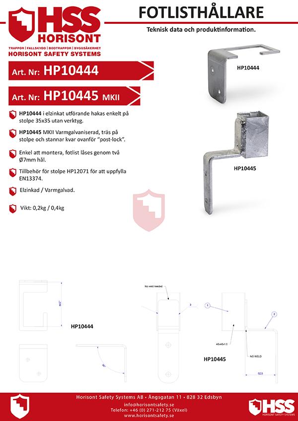 HP10444 HP10445 - Svenska