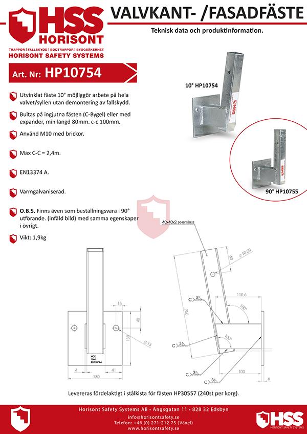 HP10754 - Svenska