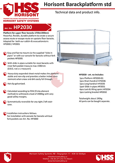 HP2030 - English