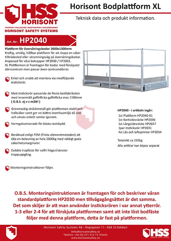 HP2040 - Svenska