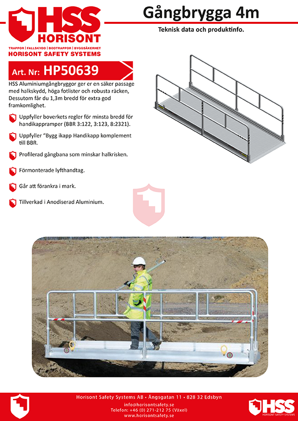 HP50639 - Gångbrygga 4 m