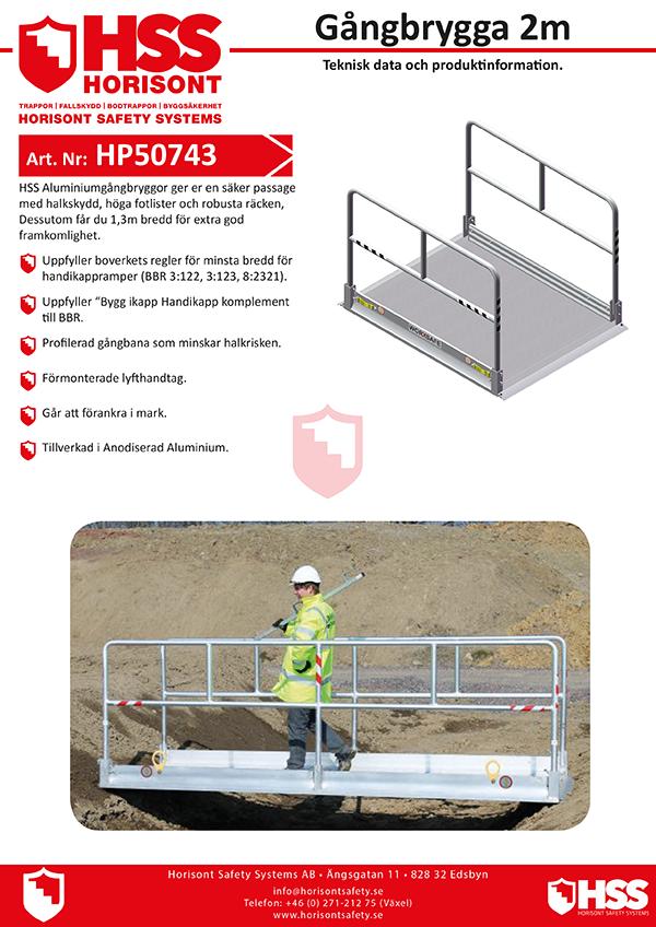 HP50743 - Gångbrygga 2 m