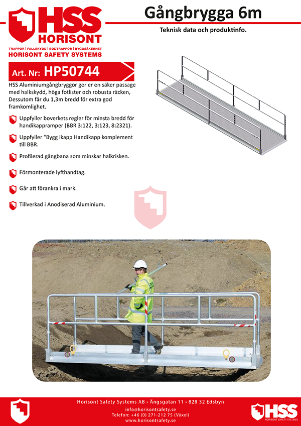 HP50744 - Gångbrygga 6 m