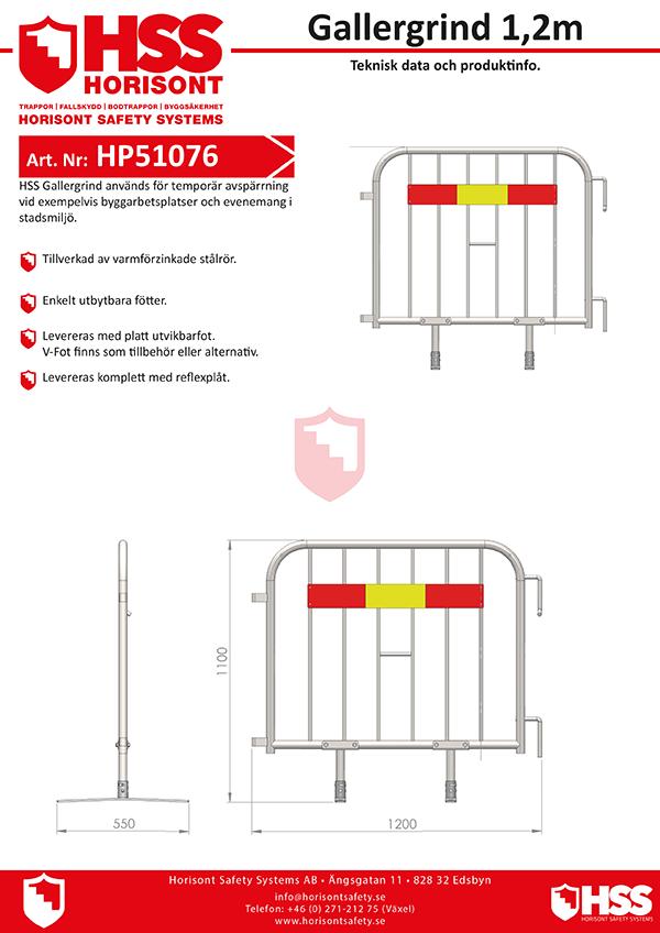 HP51076 - Gallergrind 1,2 m